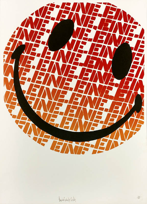 SMILEY (ORANGE) BY BEN EINE