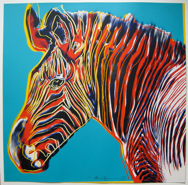 ENDANGERED SPECIES: GREVY'S ZEBRA FS II.300 BY ANDY WARHOL