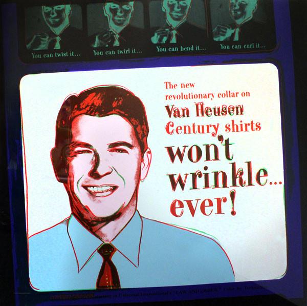 ADS: VAN HEUSEN (RONALD REAGAN) FS II.356 BY ANDY WARHOL
