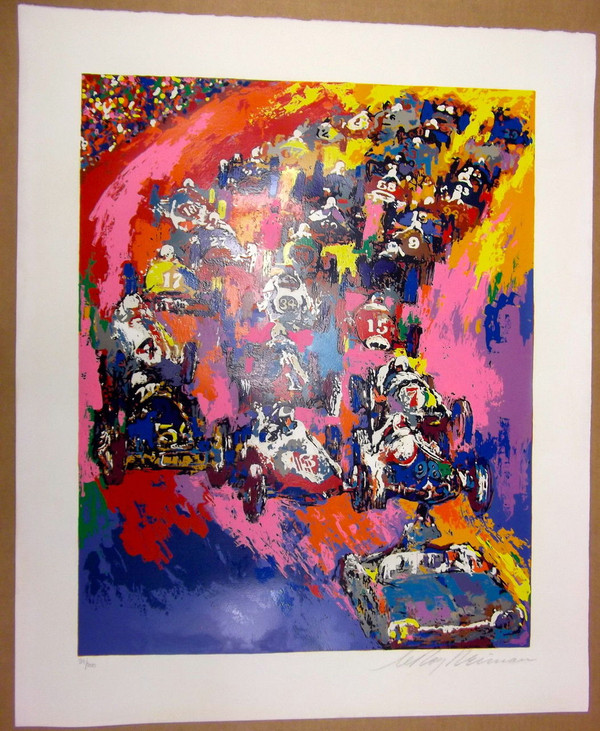 INDY 500 START BY LEROY NEIMAN