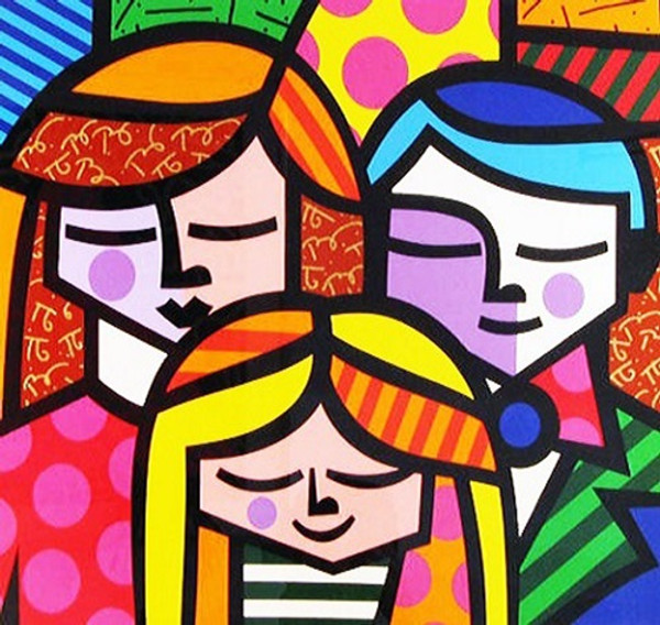 FAMILY BY ROMERO BRITTO