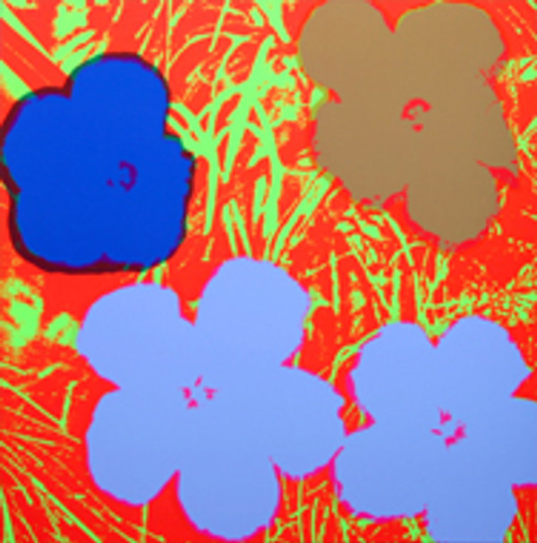 FLOWERS 11.69 BY ANDY WARHOL FOR SUNDAY B. MORNING