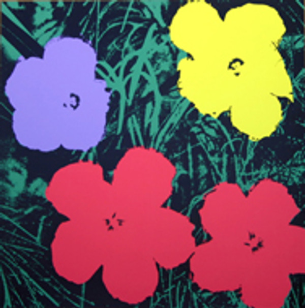 FLOWERS 11.73 BY ANDY WARHOL FOR SUNDAY B. MORNING