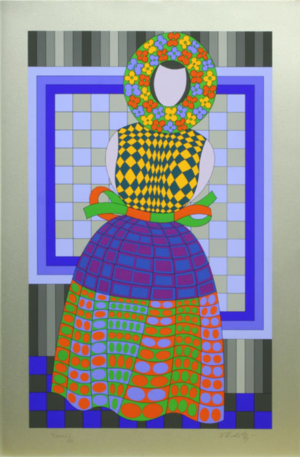 FILLE FLEUR BY VICTOR VASARELY
