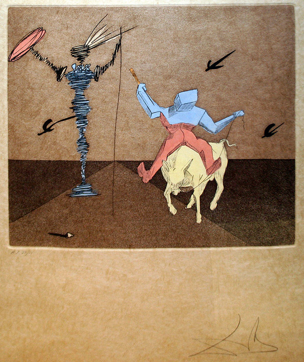 MASTER AND SQUIRE BY SALVADOR DALI