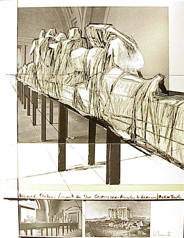 WRAPPED STATUES BY CHRISTO AND JEANNE-CLAUDE