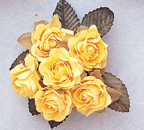 1 Banana Big Rose With Leaf Paper Craft Flowers