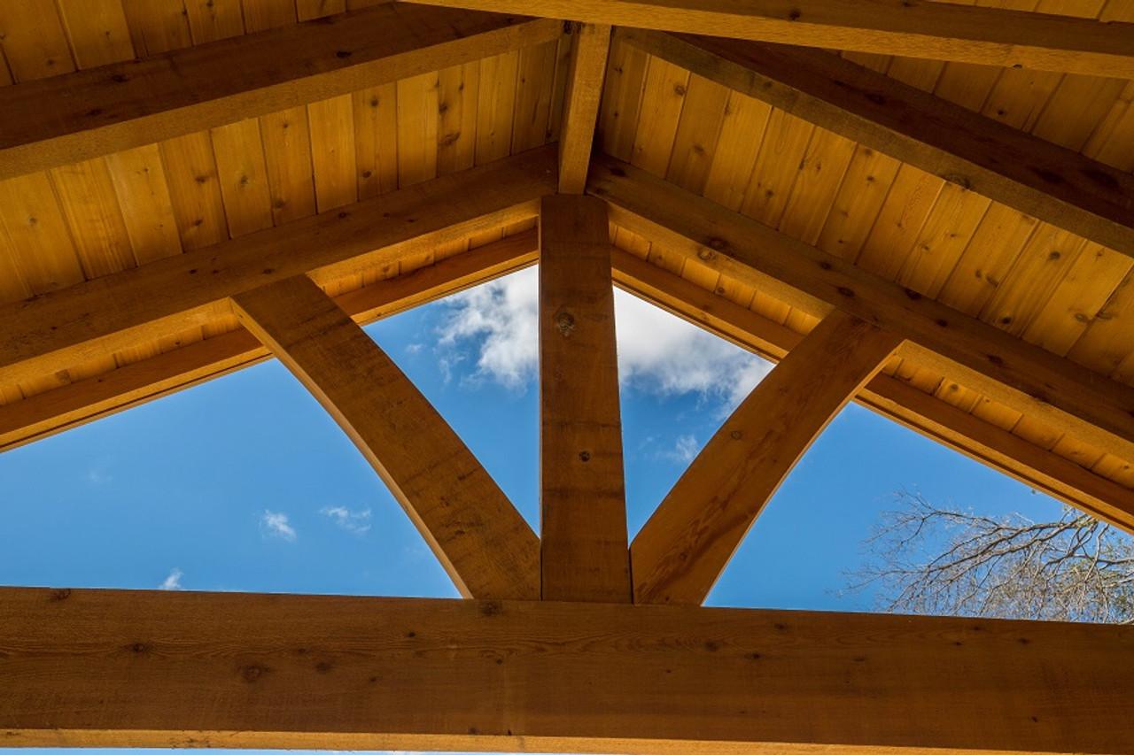 Open gable framing