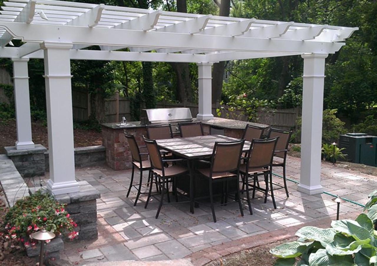 - Structural Fiberglass Pergola Kit Free Standing Composite