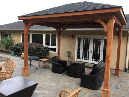 Pergola kits usa red cedar traditional roof pavilion solutioingenieria Gallery