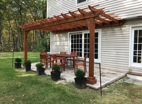Attached pergola kits wester red cedar any and all sizes for Rustic gazebo kits