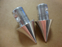 POLISHED FRONT FORK TIPS - K-9 / RIDGEBACK / CHOPPER