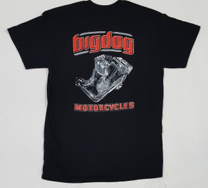 Big Dog Motorcycles V-Twin Black T-Shirt - X-Large