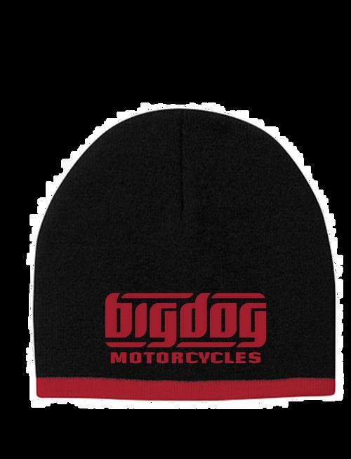 Big Dog Motorcycles Black / Red Beanie Cap