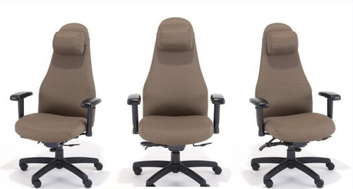 rfm heavy duty chair supports 300lbs includes neck support and pillow 4898 free - Heavy Duty Office Chairs