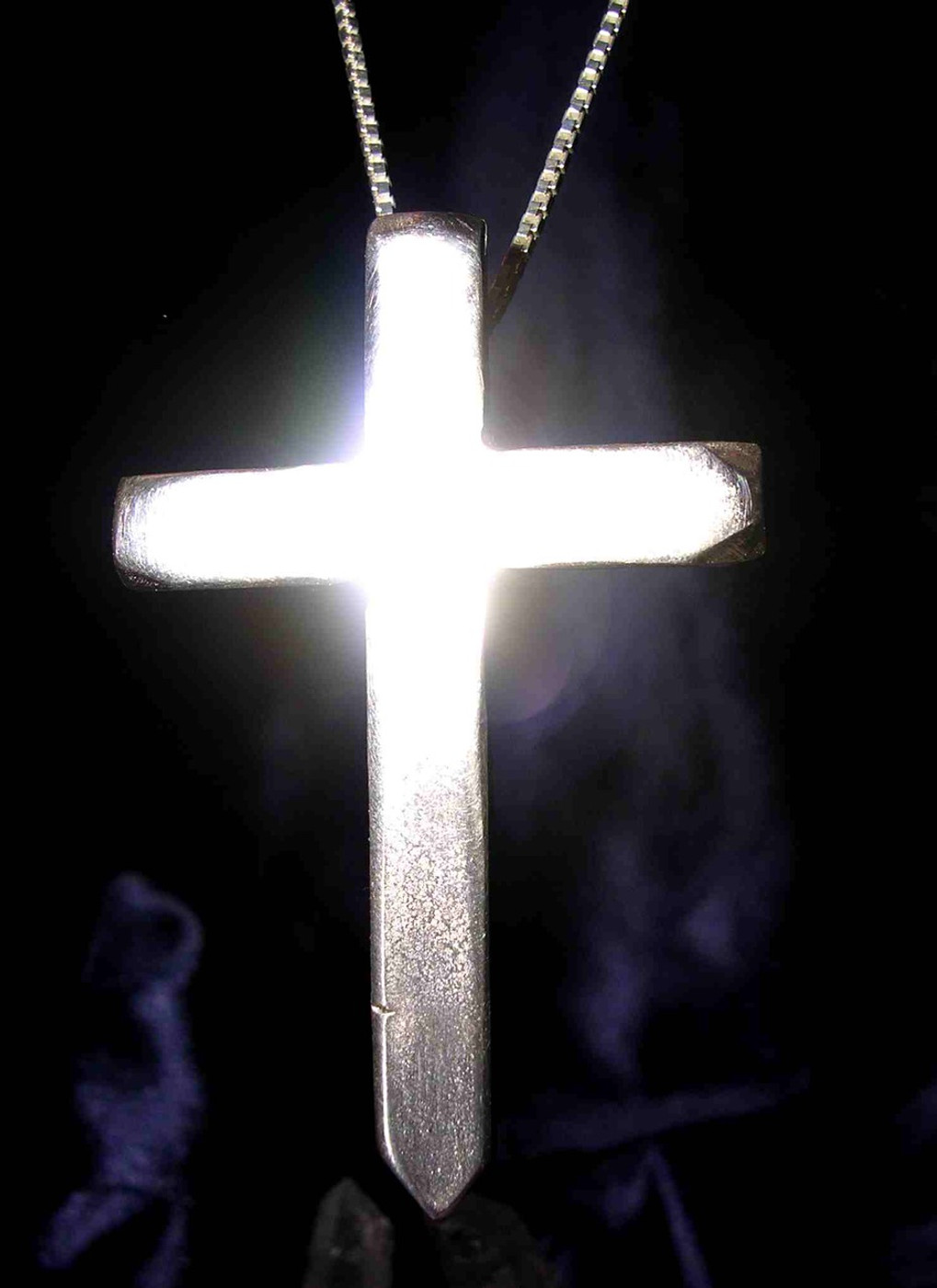 White Magick! Solid Silver Cross of Cleansing, Purification & Protection!