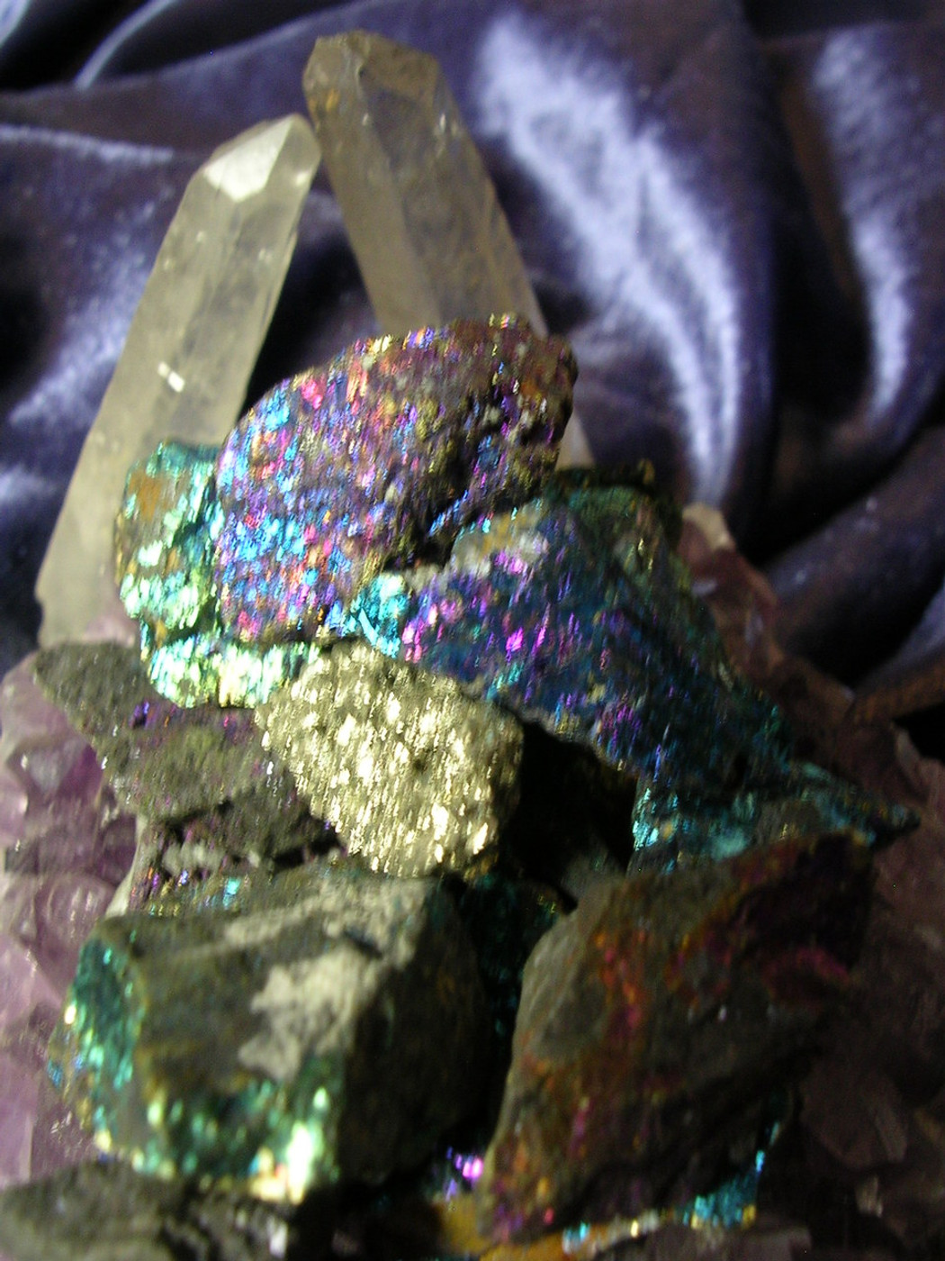 3 Peacock Pyrite Gemstones Earth Fire Energies Metaphysical Touchstone