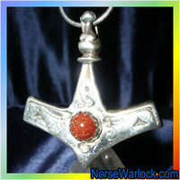 Thor's Hammer! Legacy Pendant of Power Protection Respect & Success!