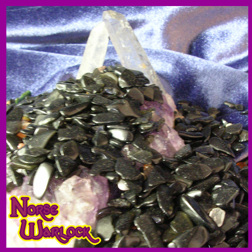 Obsidian Gemstone Spirit Offering Gift Boost Psychic Powers & Protects!