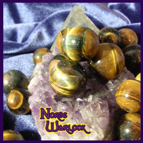 3 Tiger Eye Gemstone Crystal Balls Money Luck, Blessings & Protection!