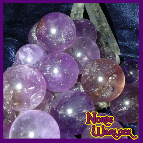 3 Amethyst Sphere Crystal Balls for Psychic Energy & Spirit Offerings!