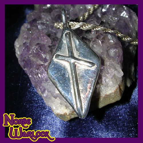 Naudhiz Rune Pendant! Overcome All Obstacles! Success! Enlightenment!