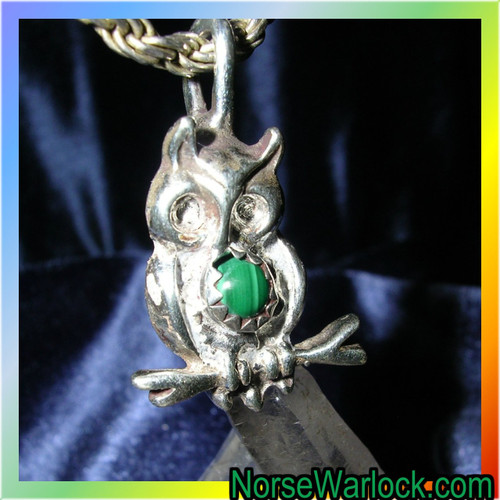 Psychic Owl of Knowledge Pendant of Wisdom, Wealth & Enlightenment!