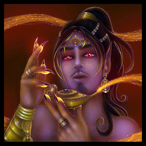 Genie King Zebbu ✦ Loyal Marid Djinn Spirit Grants Your Every Wish
