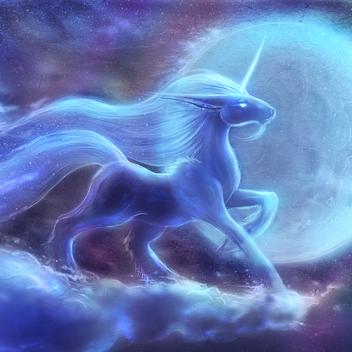 Healing Unicorn Spirit of White Light Lifts Emotional Burdens
