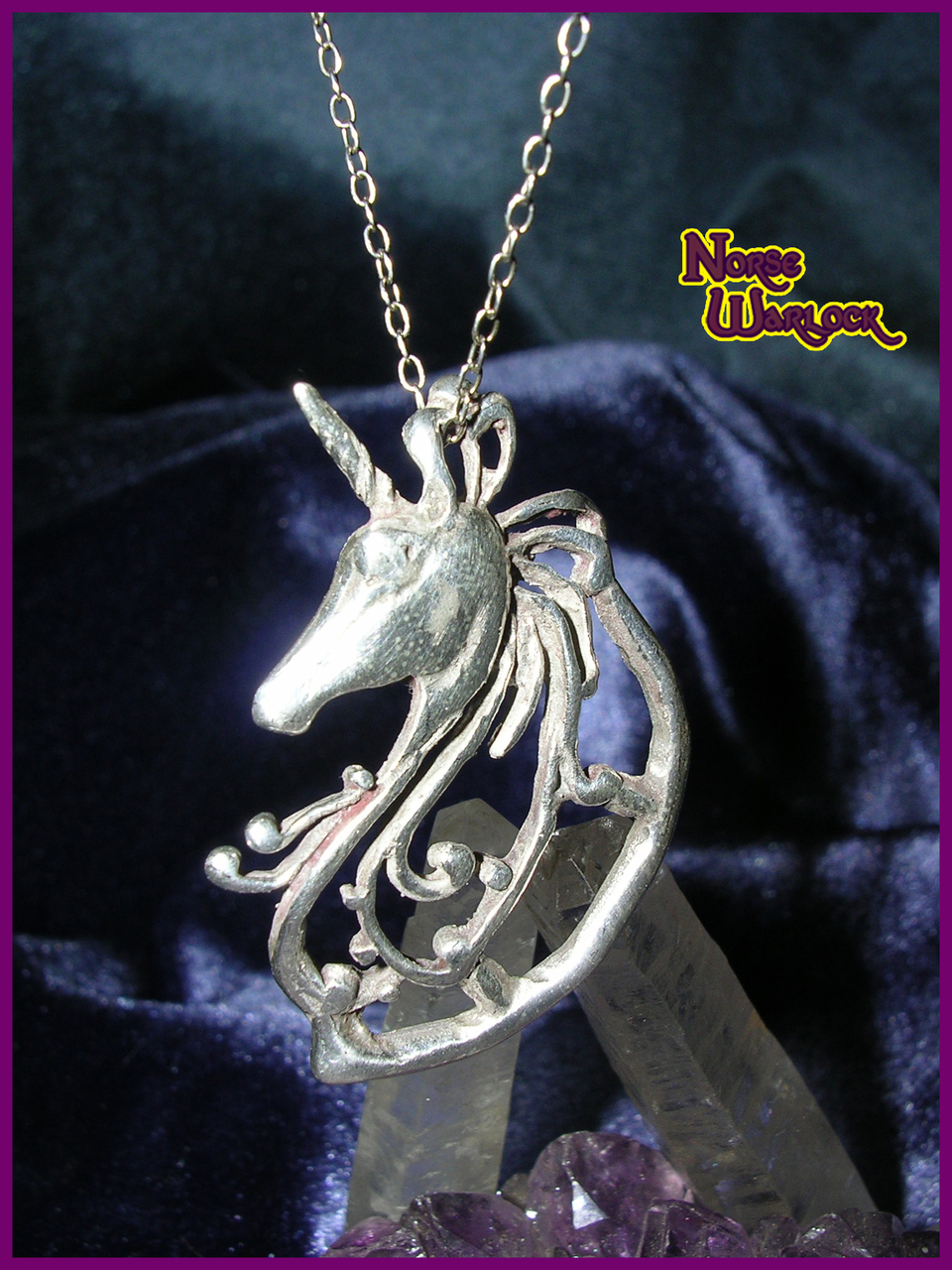 unicorn in crystaluxe pendant itm with silver sterling crystals magical swarovski