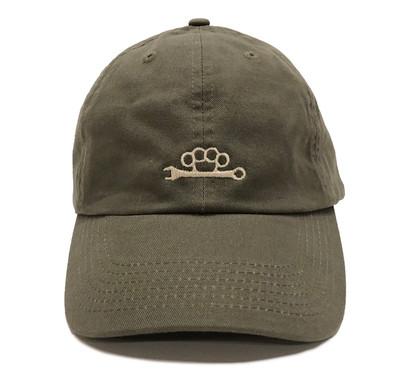 Knuckle Wrench Sport Strapback Hat | Olive