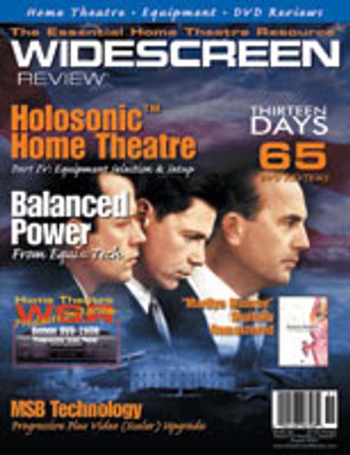 Widescreen Review Issue 051 - Thirteen Days (August 2001)
