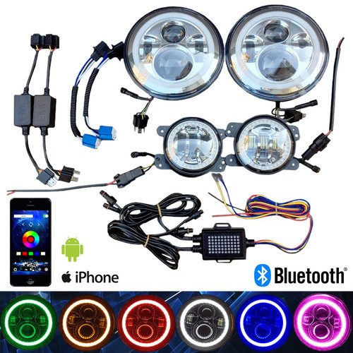 Hid Vision Canada Bluetooth Rgbw Multicolor 7 Quot Amp 4 Quot Led