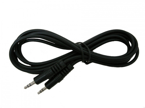 6 foot Audio Cable, Stereo 3.5mm-3.5mm Male to Male