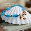 IN-398  Stunning Blues When I go through Deep waters Bracelet