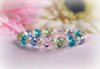 "CJ-386 Multi pastel crystals and Pearls Baby Bracelet 5"""