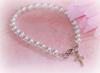 "CJ-368 Baby Bracelet Glass Pearls 5"" Rhodium finish"