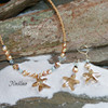 OC-54  Swarovski Starfish Necklace Fabulous!