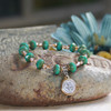 IN-140  St. Benedict Turquoise Crystal Bracelet