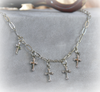 IN-494 Dainty drippy Cross necklaces