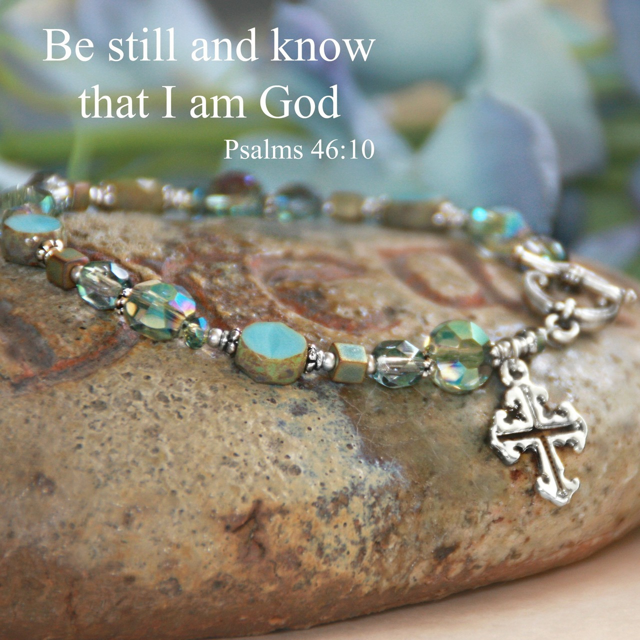 IN-162  Be still and know that I am God...stunning top selling bracelet.