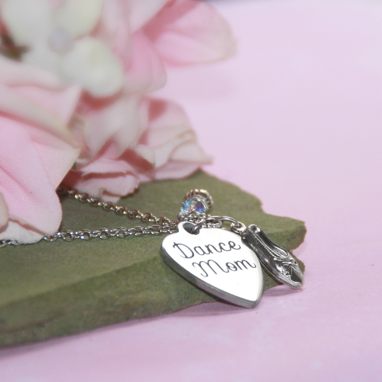 CJ-543  Dance Mom Necklace for that busy Mom who attends all Dance Activities!