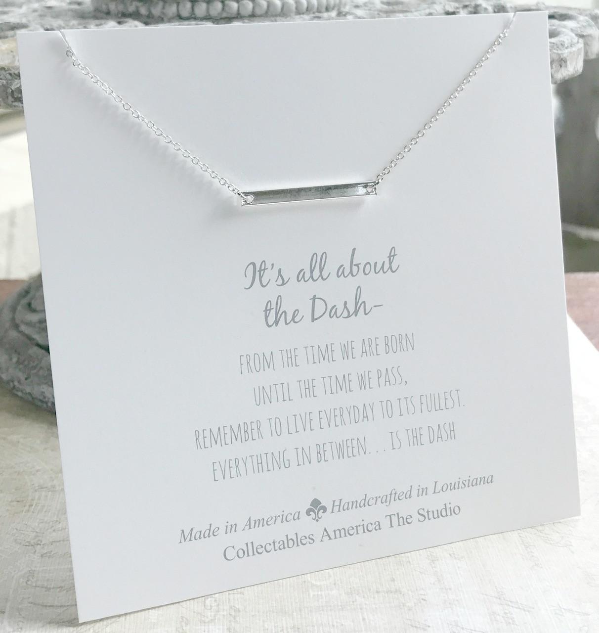 DA-9S Silver Bar All about the Dash Necklace