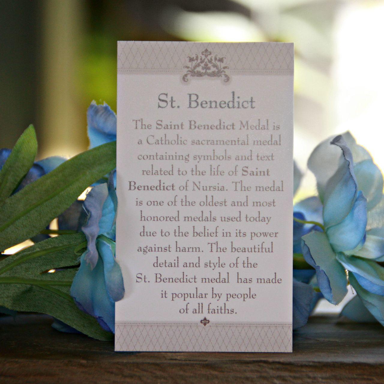 IN-166C  St. Benedict Bracelet Selection of Colors Bracelets