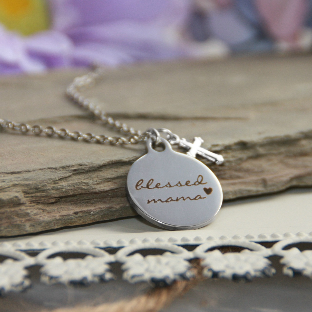IN-575  Blessed Mama Necklace