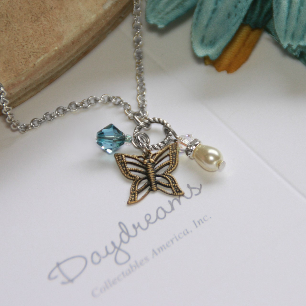 DD-2  Butterfly Charm Necklace from Daydreams Collection