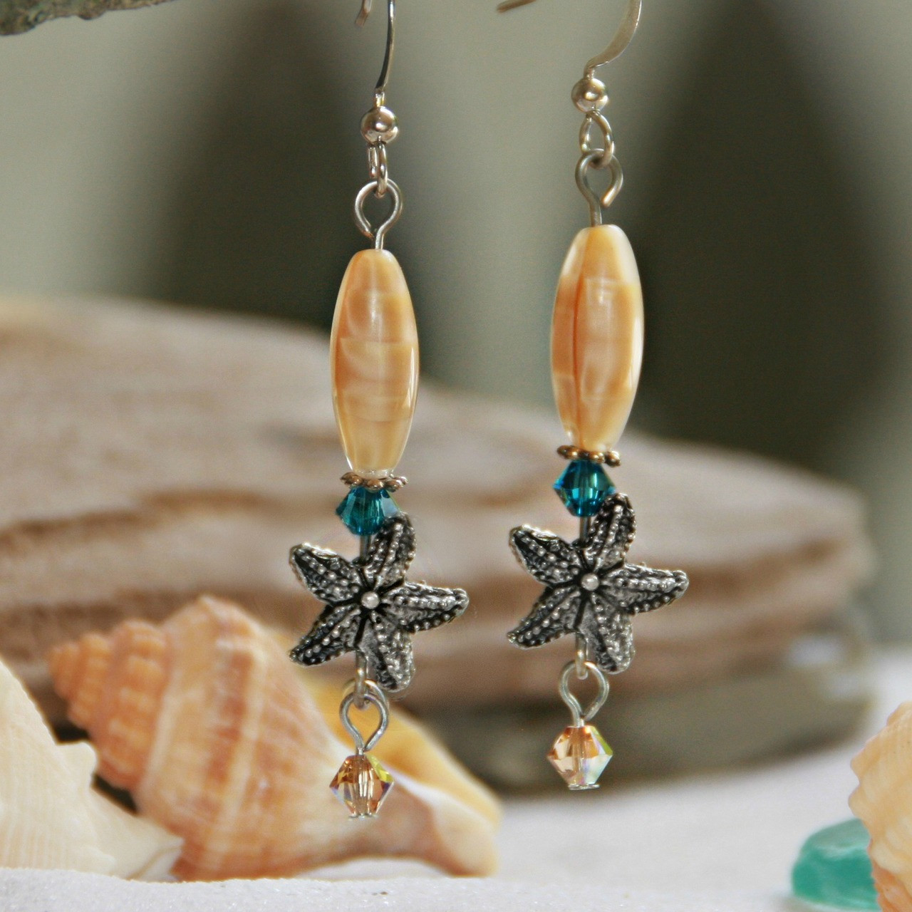 OC-33  Starfish Earrings