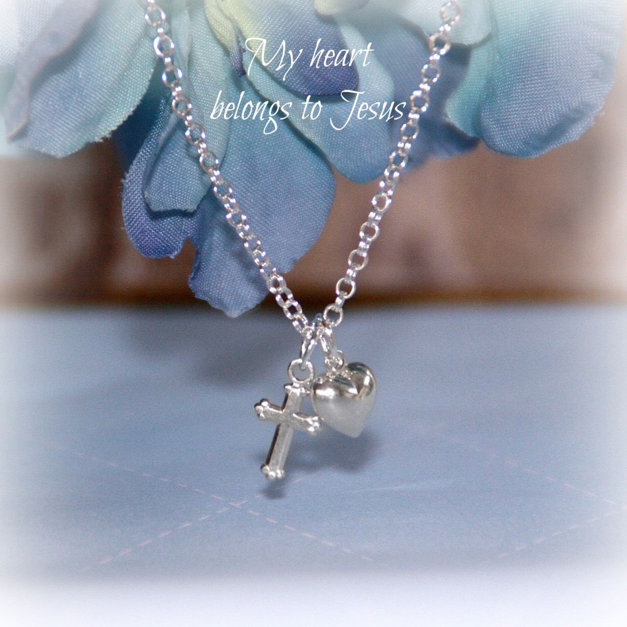 STG-208  My Heart Belongs to Jesus Sterling Silver Necklace