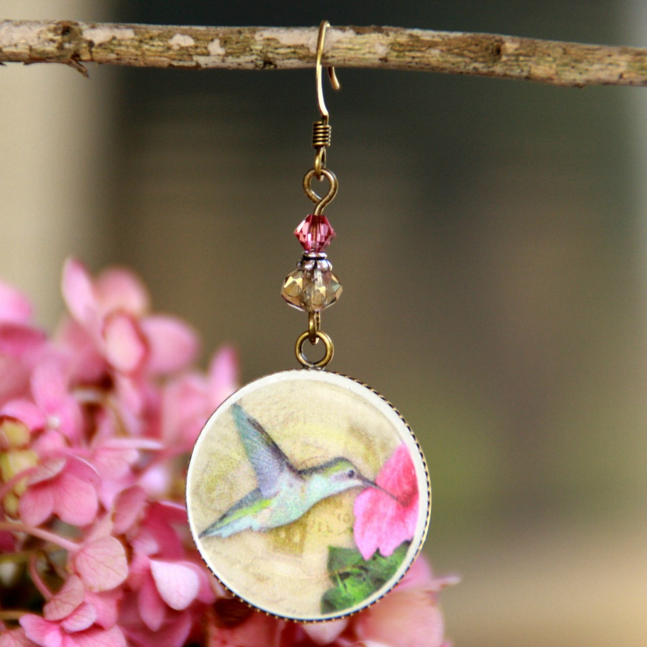 ART-220E Hummingbird Earrings ART Collection