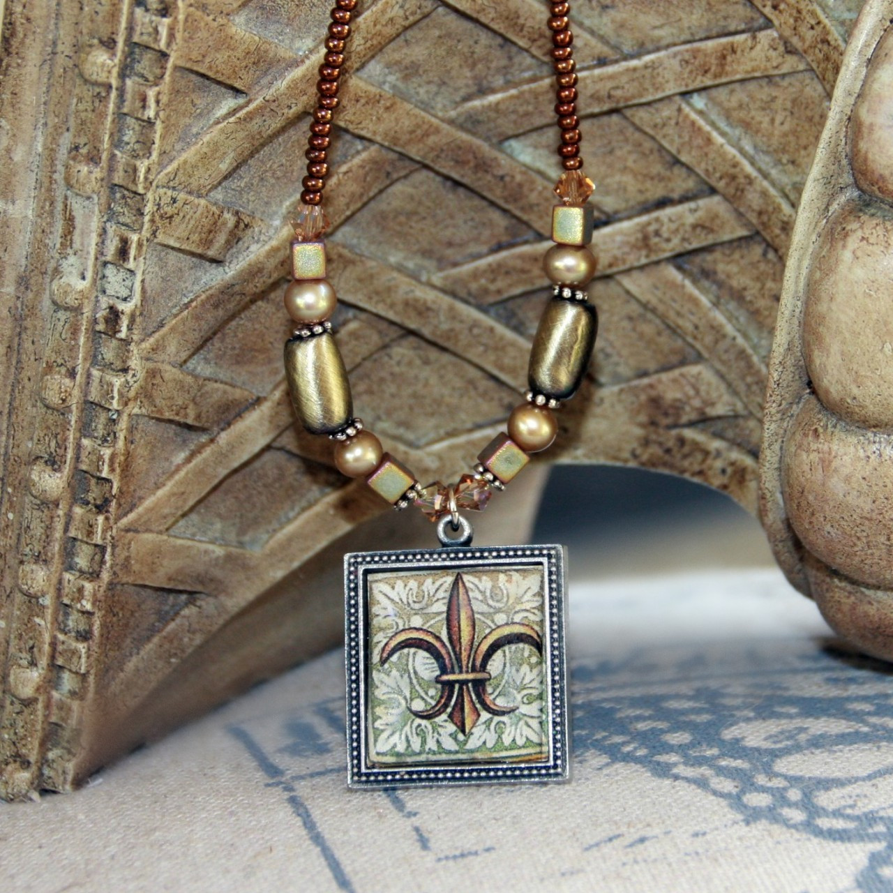 ART-216 Timeless Fleur de Lis ART Collection Necklace